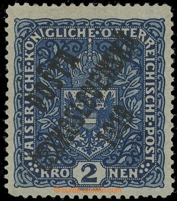 222507 -  Pof.48aII, Znak 2K tmavě modrá, široký formát, velmi d