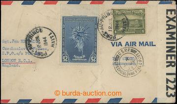 222518 - 1944 Let-dopis zaslaný z Haiti do Anglie na adresu P.O. Box