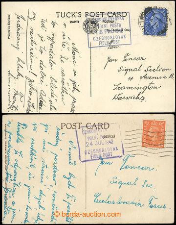 222521 - 1942 2ks prošlých pohlednic adresovaných na Signal Sectio