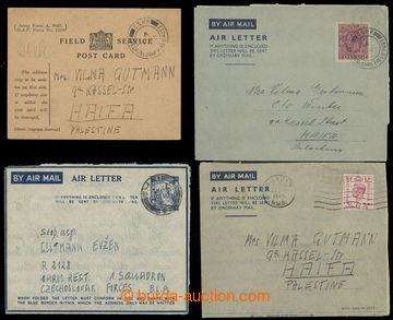 222522 - 1944-1945 příběh - sestava 4ks celistvostí mezi manželi