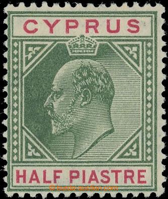 222558 - 1904-1910 SG.62a, Edvard VII. ½Pi zelená / karmínová s D
