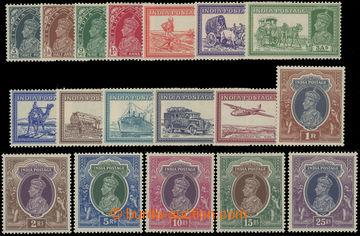 222596 - 1937 SG.247-264, Jiří VI. a indické dopravní prostředky