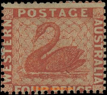 222601 - 1861 SG.40, Black Swan 4P vermilion, perforace 14 Somerset H
