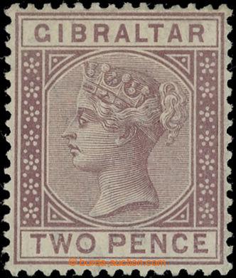 222604 - 1886 SG.10w, Viktorie 2P hnědo-purpurová, PRŮSVITKA CA P�