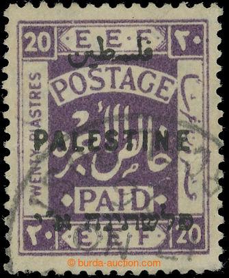 222609 - 1922 SG.84 var, EEF 20Pia fialová, nejvyšší nominál a v