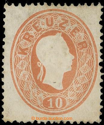 222649 - 1861 Ferch.21b, FJ I. 10K světle hnědá s původním lepem