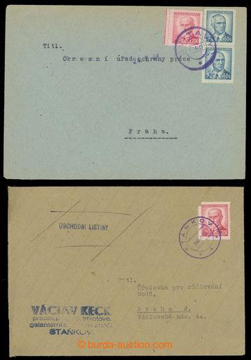 222679 - 1946 sestava 12ks celistvostí z různých pošt, s provizor