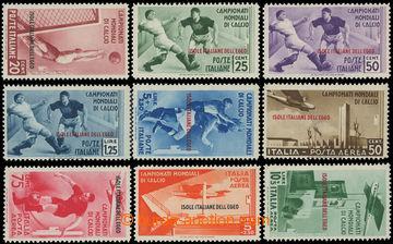 222687 - 1934 Mi.137-145, MS ve fotbale 1934 20c-10L, luxusní série