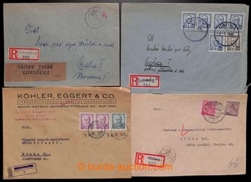 222689 - 1945-1946 sestava 10ks R-zásilek z různých pošt, s provi