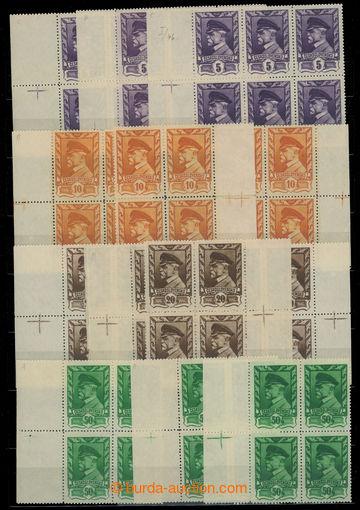 222721 - 1945 Pof.381-386, Moskevské 5h - 2K, sestava 19ks krajovýc