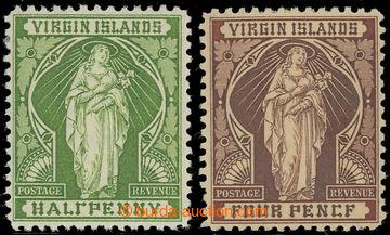 222738 - 1899 SG.43b, 46a, Sv. Uršula ½P s chybotiskem - HALlPENNY
