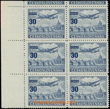 222746 - 1949 Pof.L32ST, Přetisková provizoria 30/50Kčs, rohový 6