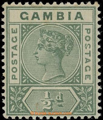 222751 - 1898-1902 SG.37a, Viktorie ½P tmavě zelená s DV - Malfore