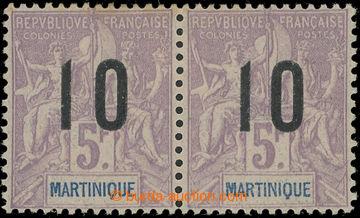 222769 - 1912 Mi.76I+76II, Yv.81+81A, přetiskové Alegorie 10C/5Fr,