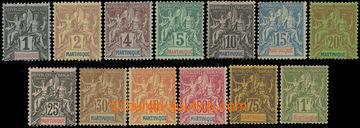222773 - 1892 Mi.26-38, Alegorie 1C - 1Fr; kompletní série, kat. 30