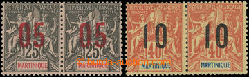 222775 - 1912 Mi.74I+74II, 75I+75II, Alegorie 05C/25C a 10C/40C, sest
