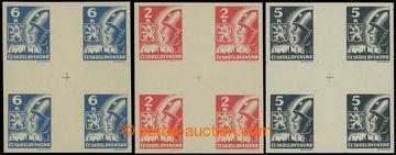 222791 -  Pof.354-356(Mx4), Malé kříže 2K, 5K a 6K; luxusní, nep