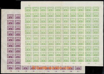 222815 - 1919 ARCHOVINA /  Pof.S1+S2, 2h fialová + 5h zelená, kompl