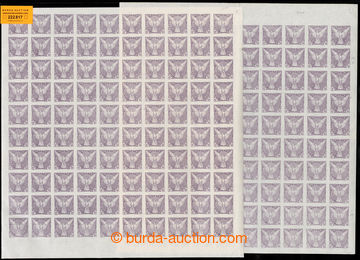 222817 - 1918 ARCHOVINA / Pof.NV4, Sokol v letu 10h fialová, 2x komp