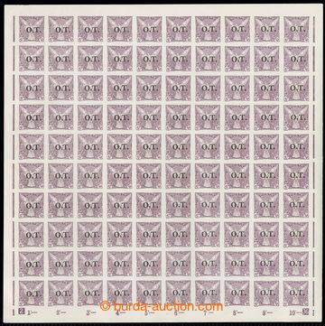 222819 - 1934 ARCHOVINA / Pof.OT1, hodnota 10h fialová, kompletní 1