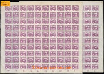 222821 -  ARCHOVINA / Pof.2, 3h fialová, 2x kompletní 100ks arch, T