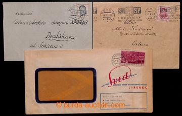 222831 - 1953 1. DEN / 3 dopisy z 1.6.1953 vyplacené podle tarifu pl