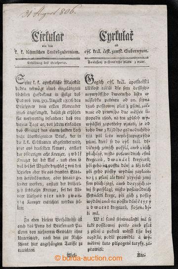222884 - 1806 RAKOUSKO / cirkulář c.k. českého zemského gubernia