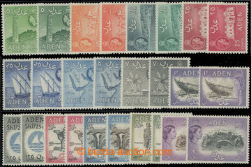 222888 - 1953-1963 SG.48-72, Alžběta II. - Motivy 5C - 20Sh; svěž