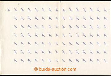 222913 - 1939 ZT  zkusmý tisk přetisku C v modré barvě na lehce z