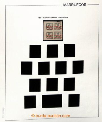 222934 - 1914-1954 [SBÍRKY]  rozpracovaná sbírka na listech Edifil