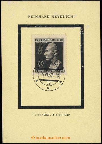 222956 - 1943 1. výročí úmrtí Heydricha - malý pamětní list s