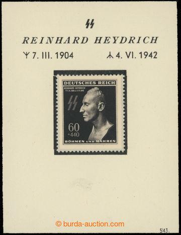 222957 - 1943 1. výročí úmrtí Heydricha - malý pamětní list s