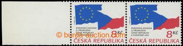 223001 - 1995 Pof.63 VV, Evropská dohoda 8Kč, vodorovná 2-páska s