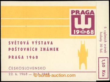 223042 - 1968 ZS1, PRAGA 1968 1,50Kčs; kompletní první známkový