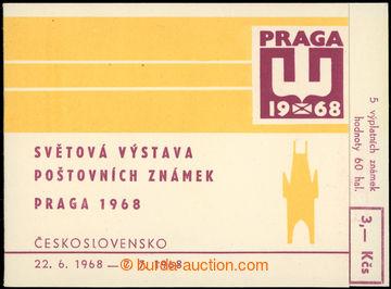 223043 - 1968 ZS2, PRAGA 1968 3Kčs; kompletní známkový sešitek s