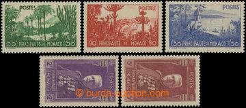 223096 - 1937 Mi.138-142, Motivy a Ludvík II. 50C - 5Fr; luxusní, k
