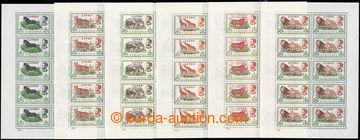 223130 - 1961 Mi.408-413, Africká fauna 5C - $1 v kompletních 10-BL