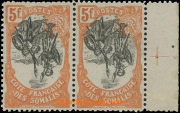 223132 - 1903 Mi.65, Domorodý motiv 5Fr červenooranžová, vodorovn