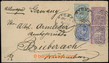223136 - 1895 dofrankovaná COB 1P zaslaná do Německa, dofr. zn. ½