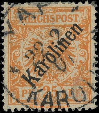223142 - 1899 Mi.5I, Orlice 25Pfg oranžová, upotřebený exemplář