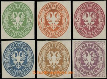 223151 - 1872 NOVOTISKY 1872 / Mi.8-12, 14, Znak ½S - 4S + 1½S; po