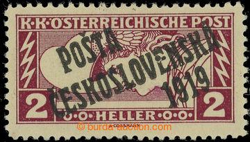 223161 -  Pof.57Aa, Obdélník 2h hnědočervená, černý přetisk I