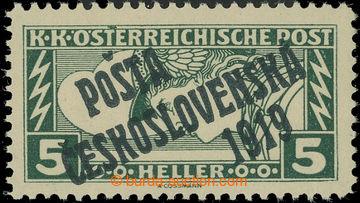 223162 -  Pof.58Aa, Obdélník 5h zelená, zelenočerný přetisk III