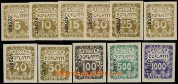 223165 - 1919 Pof.DL1vz-13vz, Ornament 5h-1000h nezoubkované s přet