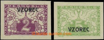 223168 - 1919 Pof.S1-S2, 2h a 5h nezoubkované s přetiskem VZOREC; d