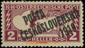 223195 -  Pof.57Aa, Obdélník 2h hnědočervená, černý přetisk I