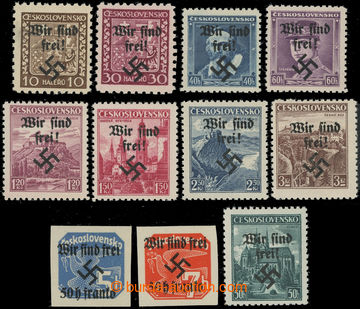 223198 - 1938 RUMBURG / Mi.2, 5-6, 8, 10-11, 14-15, 25-26, 52, sestav