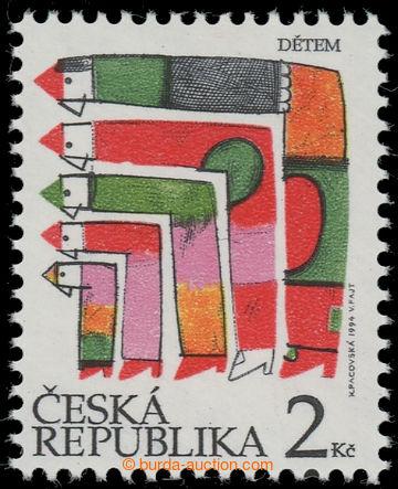 223219 - 1994 Pof.41a DV, Den dětí 2Kč, jasně červená, DV 28/2