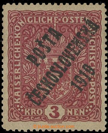 223236 -  Pof.49aI, Znak 3K tmavě červená, úzký formát, I. typ