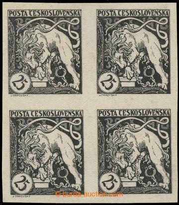 223246 -  ZT  Lev trhající okovy 25h, zkusmý tisk v černé barvě